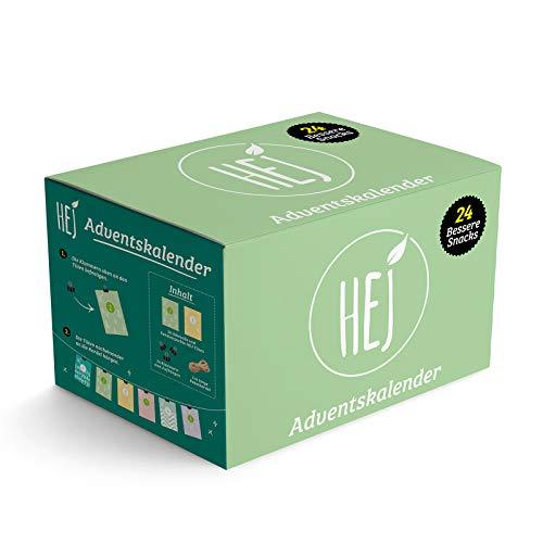 DER HEJ ADVENTSKALENDER 2020 | 24 Türchen mit proteinreichen Überraschungen | liebevoll handverpackt | inklusive Deko-Set