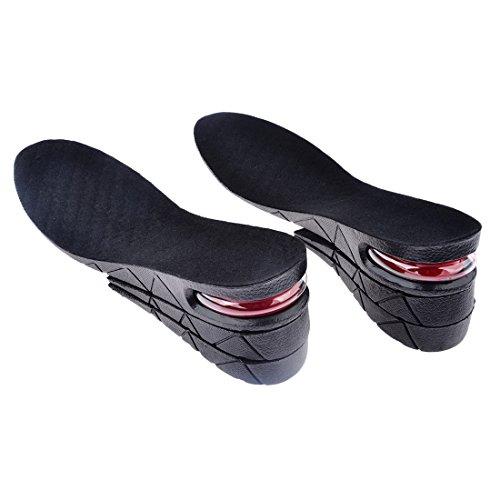 Plantilla con Aumento, Hmane aumento de altura en plantilla, almohadilla de zapatos para hombres y mujeres (3capas, 6.5cm)