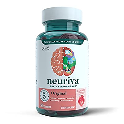 FUELS 5 INDICATORS OF BRAIN PERFORMANCE: Neuriva Original Gummies fuel 5 indicators of brain performance (focus, memory, concentration, learning and accuracy). They are also decaffeinated, vegetarian, naturally flavored, and gluten-free. MADE WITH CL...