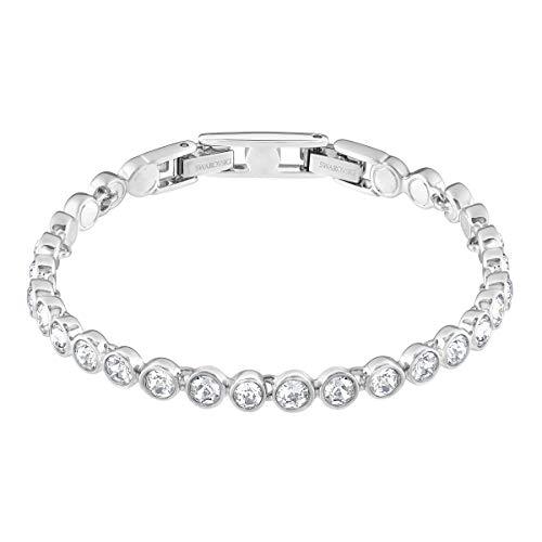 SWAROVSKI Women's Tennis Bracelet, White, Rhodium plated