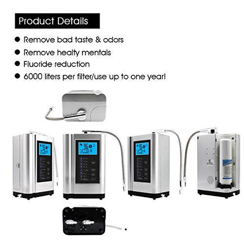 Product Image 6: AlkaDrops Water Ionizer, Water Purifier Machine PH 3.5-10.5 Alkaline Acid Water Machine,Up to -500mV ORP, 6000 Liters Per Filter,7 Water Settings,Auto-Cleaning,Intelligent Voice(silver)