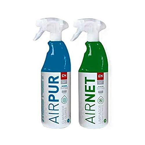 CH Quimica Pack AIRNET + AIRPUR pulverizadores Limpiador y E