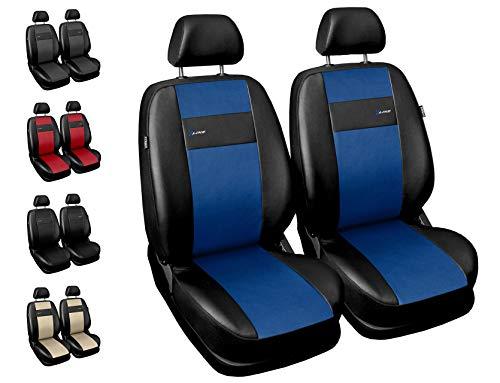 Carpendo Sitzbezüge Auto Vordersitze Autositzbezüge Schonbezüge Vorne mit Airbag System X-Line - Blau