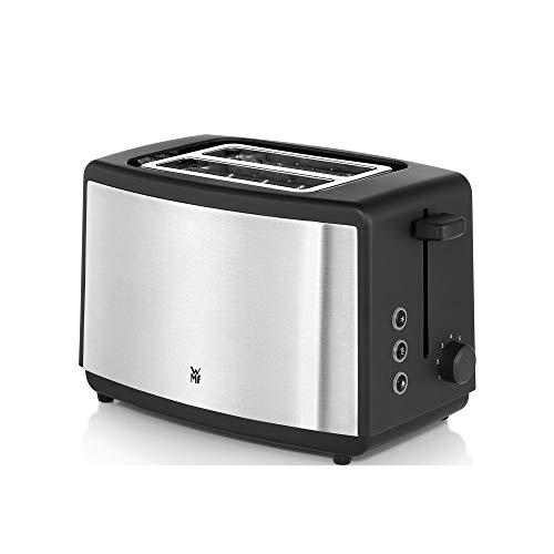 WMF Bueno Edition Toaster Edelstahl, Doppelschlitz Toaster mit Brötchenaufsatz, 2 Scheiben, 7 Bräunungsstufen, 800 W, edelstahl matt