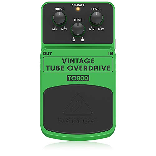 Behringer TO800 Vintage Tube-Sound Overdrive Instrument Effects Pedal,Lime Green