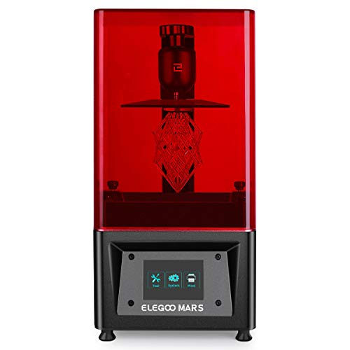 ELEGOO MARS UV 光造形式 3Dプリンター タッチスクリーン 停電リカバリ 高精度 115x65x149mm (黒色)