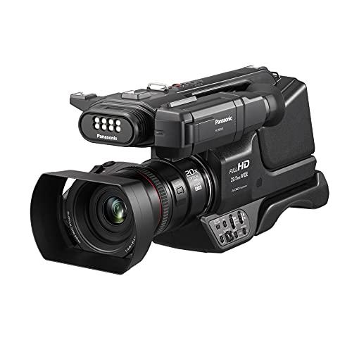 Panasonic MDH3E | Caméscope Semi-Pro Full HD (Qualité vidéo Full HD 50p, Capteur type 1 pouce, Zoom optique 20x, Ecran orient., Stabilisé, Viseur inclinable, Torche intégrée) Noir – Version Française