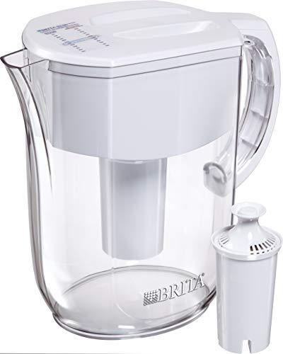 Brita Pitchers Jarra de Agua con Filtro, 10 tazas al día, Grande, Blanco