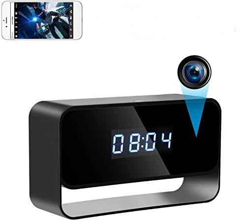 Telecamere Spia Orologio Telecamera Nascosta Telecamera Spia WiFi 1080P HD Mini Telecamera150° Angolo Ampio con Visione Notturna e Rilevamento del Movimento