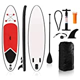 Nice C Inflatable Stand Up Paddle Board SUP, with SUP Accessories & Carry Bag Wide Stance, Bottom Fin for Paddling, Surf Control, Non-Slip Deck All Skill Youth/Adult Standing Boat