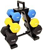 Balance From 50-Pound All-Purpose Dumbbell Set with Weight Rack