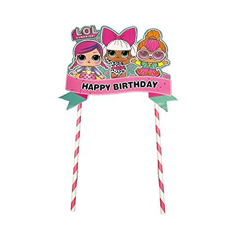 Image 2 - LOL joyeux anniversaire Cake Topper Cupcake Picks Cartoon Gâteau Décoration Enfants Filles Fête D'anniversaire Fournitures 5 pcs