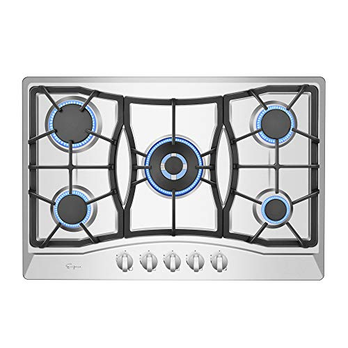 """Empava 30"""" Stainless Steel 5 Italy Sabaf Burners Stove Top Gas Cooktop EMPV-30GC0A5"""