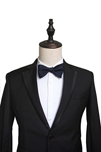 JEMYGINS Formal Solid Mens Bowtie Self Bow Tie Sets