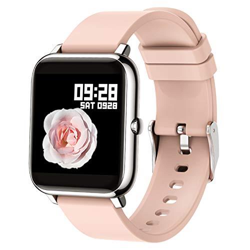 Popglory Smart Watch, Reloj Inteligente con Oxígeno Sanguíneo Presión Arterial Frecuencia Cardíaca, Pulsera Actividad Impermeable IP67 para Hombre Mujer para iOS Android