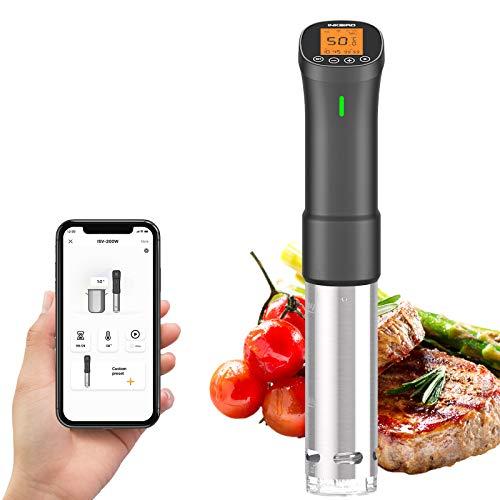 Inkbird ISV-200W Sous Vide, Roner Cucina Professionale, Wi-Fi Slow Cooker Controllo Remoto, Circolatore di Immersione per Cottura a Bassa Temperatura, 1000W