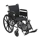 Drive Cruiser III Light Weight Wheelchair with Flip Back Removable Arms, Full Arms, Elevating Leg Rests, 20'...