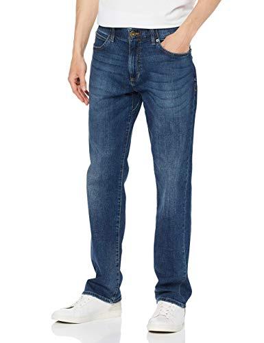 Lee Extreme Motion Straight Jeans, Blu (Maddox Pu), 33W / 34L Uomo