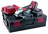Flex Amoladora angular con batería LBE 125 18.0-EC/5.0 Set (18 V, incluye 2 baterías de 5,0 Ah, amoladora de corte con maletín + accesorios, motor sin escobillas, cubierta protectora ajustable) 499323