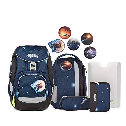 Ergobag Pack KoBärnikus Glow, ergonomischer Schulrucksack, Set 6-teilig, 20 Liter, 1.100 g, Silber