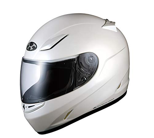 オージーケーカブト(OGK KABUTO)バイクヘルメット フルフェイス FF-R3 パールホワイト M (頭囲 57cm~58cm)