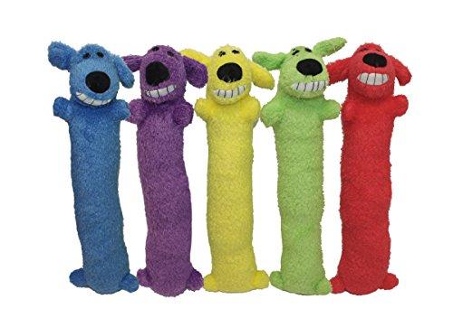"Loofa Dog 12"" Plush Dog Toy, Colors May Vary"