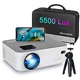 Proyector WiFi, FANGOR Mini Proyector Portátil Bluetooth Proyector 5500...