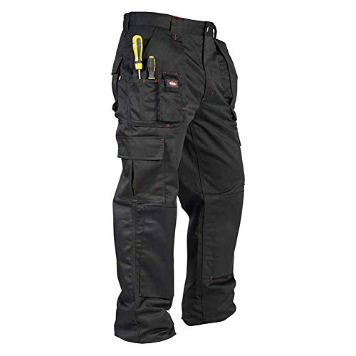 Lee Cooper Herren Cargo Trouser Hose, schwarz, W34/L31 (Reg)