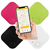 Key Finder Smart Tracker with Anti-Lost Alarm Reminder; Key Finder Locator with Bluetooth 4.0; Key Finder with App for Phones, Keys, Wallet, Backpack, Luggage, Camera (4 Packs)