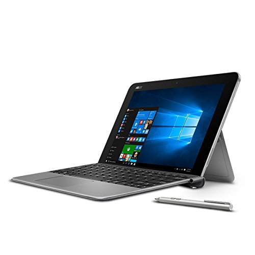 "ASUS Transformer 10.1"" Touchscreen 2-in-1 Laptop PC with Keyboard and Stylus Pen Intel Atom x5-Z8350 Processor 4GB RAM 64GB SSD 802.11AC Wifi HDMI Bluetooth Webcam Windows 10-Gray"