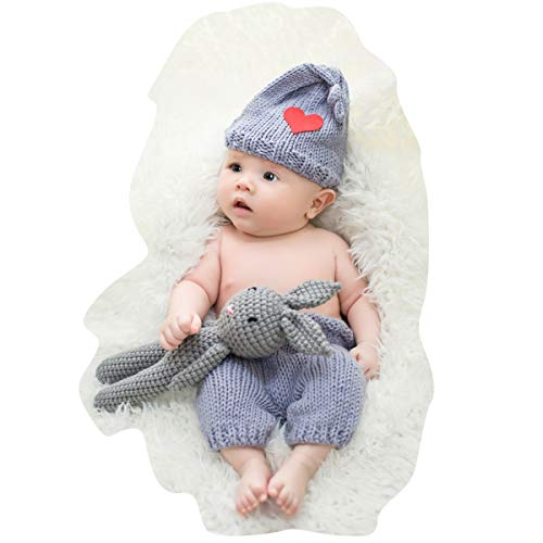 Newborn Photography Props Outfits Baby Boy Girls Cute Bunny...