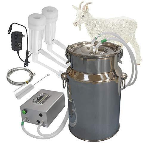 Hantop Cow Goat Milking Machine, Pulsation Vacuum Pump Milker, Automatic Portable Livestock Milking Equipment (7L,for Goat)