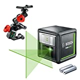 Bosch laser level Quigo Green with Clamp (2 x Batteries, Green Laser Diode, Working Range: 12 Metres, in Cardboard Box)