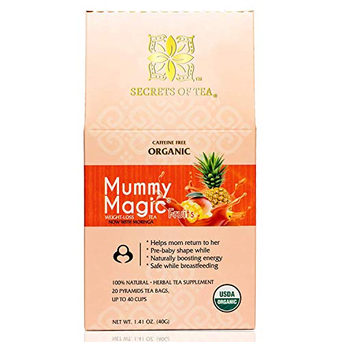 Mummy Magic Weight Loss Tea - Fruit Tea with 40 Servings - Energy Tea Naturally Increase Digestion.Postpartum Tea for Metabolism & Digestion. 5