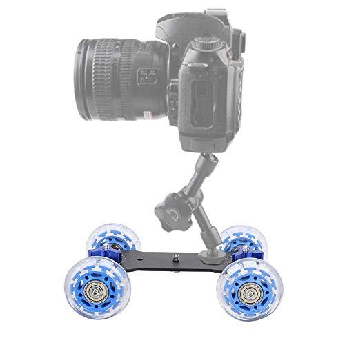 Lantro JS Mini Macchina Fotografica Slider Car, Ruote in Silicone Portatile Dolly Skater Car, per videocamera DSLR