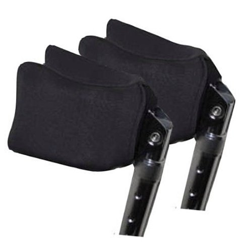 Crutcheze Forearm Crutch Pads - Covers for Arm Cuffs USA Made - Breathable, Ultimate Cushion, Moisture Wicking, Antibacterial - Washable Forearm Crutch Accessories