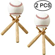 """Appox. 5"""" tall. Made of high quality schima superba. Excellent for all types and sizes of round Items within 9"""" circumference, such as table tennis ball, golf ball and so on. A creative decoration to show your baseball,and perfect gift for baseball f..."""