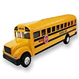 ArtCreativity Die Cast Yellow School Bus Toy for Kids - 8.5 Inch Pull Back Car with Cool Opening Doors and Rubber Tires - Durable Diecast Metal - Best Birthday for Boys and Girls