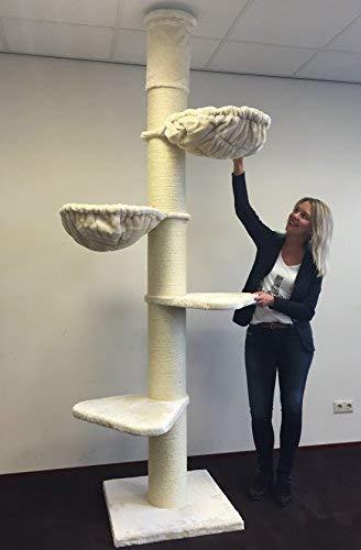 Kratzbaum Grosse Katzen stabil deckenhoch XXL Maine Coon Tower Beige...
