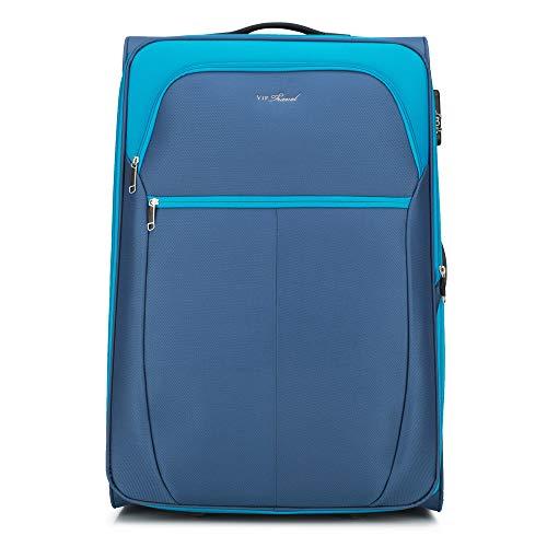 WITTCHEN Koffer – Großer | Textil, Material: Polyester | hochwertiger und Stabiler | Blue | 108 L | 73x37x48 cm