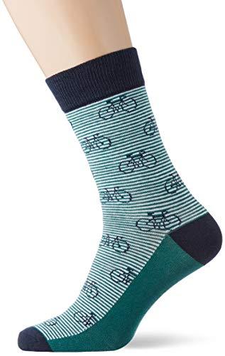 JACK & JONES JACFADING Sock Noos Calzini, Verde-Evergreen, Taglia unica Uomo