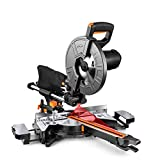 Compound Miter Saw, TACKLIFE 10-Inch Sliding Miter Saw, with Double Speed (4500 RPM & 3200...