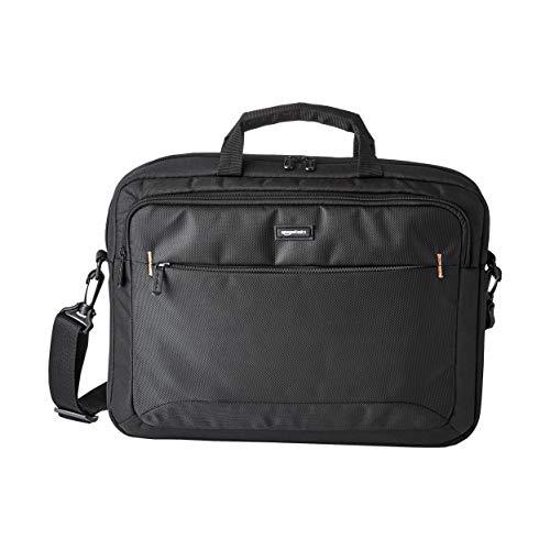 Amazon Basics - Maletín compacto para portátil con correa para el hombro...