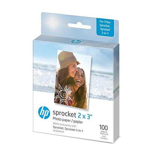 HP Sprocket Photo Paper   2x3   100 sheets