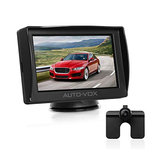 AUTO-VOX M1 Rückfahrkamera mit Monitor, IP68 wasserdichte AutoKamera für...