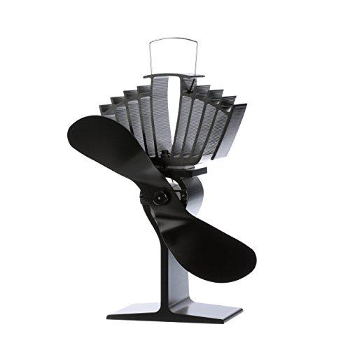 Ecofan AirMax Wood Stove Fan, Large, Black Blade