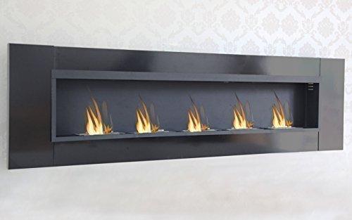 5 Burner Luxury Chimney Bio Ethanol Gel Fireplace Wall Fireplace Cheminee Black High Gloss