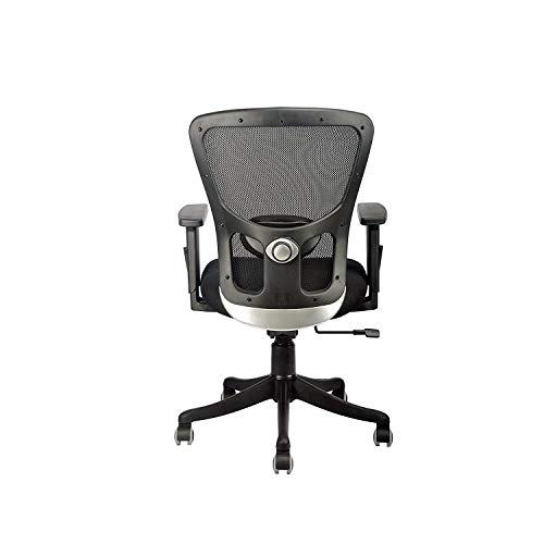 INNOWIN® Jazz Mid Back Mesh Office Chair with Adjustable Arms for Office & Home - Black