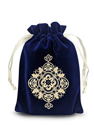 MIRIYAN Spiritual Mandala Tarot & Dice Bag I Velvet & Satin...