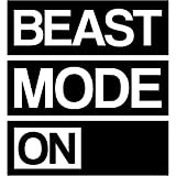My Vinyl Story | Beast Mode On | Motivational Large Gym Wall Decal Quote for Home Gym Workout Fitness Motivational Wall Art Decor Vinyl Removable Sticker